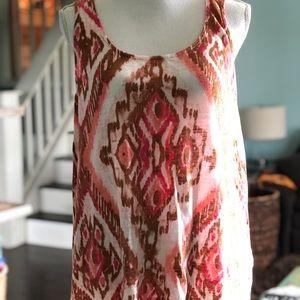 Ladies medium J.Jill tribal print cotton tank top